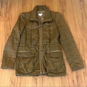 Aritzia Wilfred Olive Green Quilted Utility Jacket